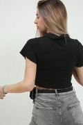 Camiseta polo corto negro