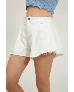 Short oversize blanco