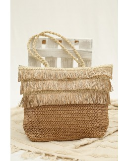 Bolso shopper de papel tostado
