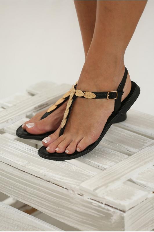Sandalias de dedo negro
