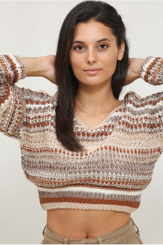 Jersey de lana corto...