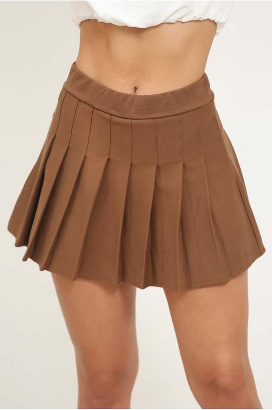 Falda + short plisada lisa...