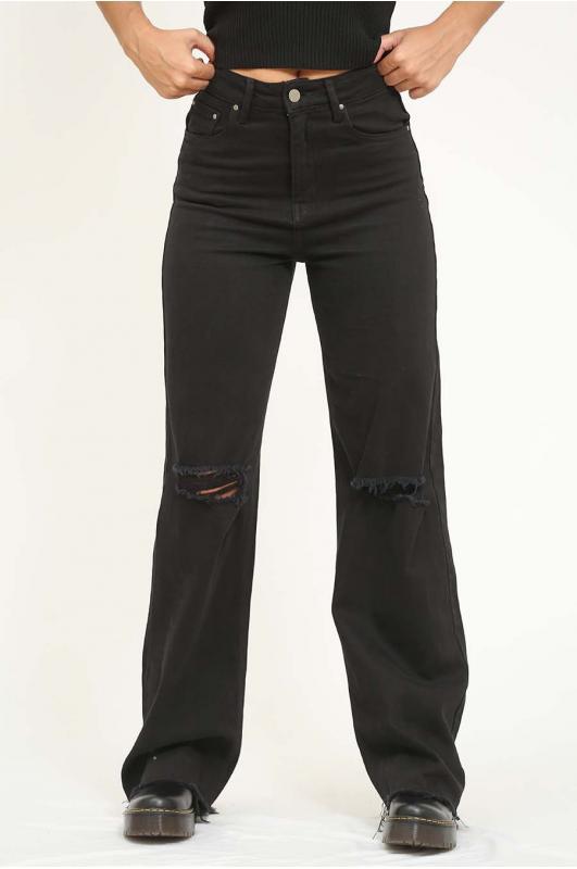 Pantalón wide leg negro