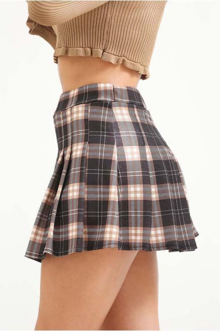 Falda plisada de cuadro...