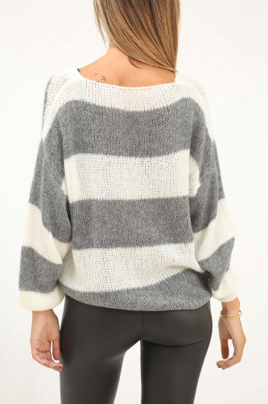 Jersey lana fina de rayas...