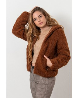 Chaqueta reversible marron