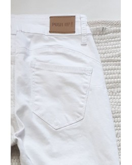 Pantalón pitillo Push Up blanco