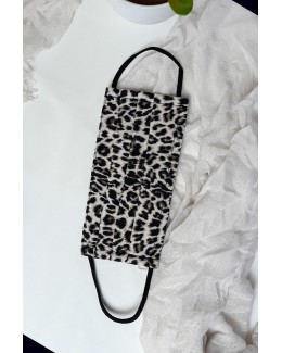 Mascarilla pliegues leopardo