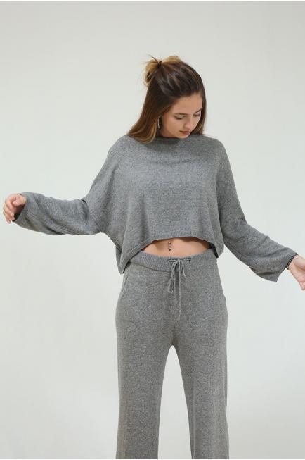 Jersey corto oversize gris