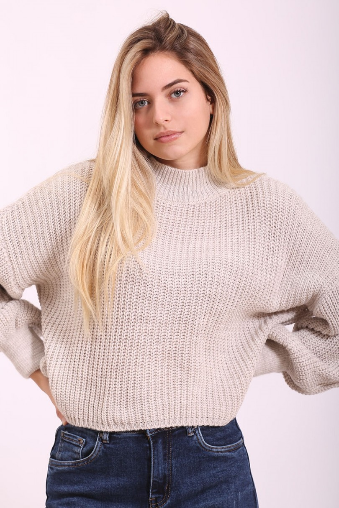 Jersey de lana beige claro